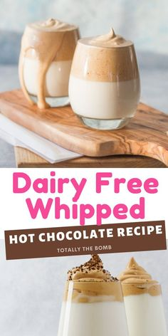Dairy Free Whipped Hot Chocolate #dairyfree #whipped #whippedhotchocolate Best Food Ever, Hot Chocolate, Dairy Free, Chicken Recipes, Good Food, Appetizers, Ground Chicken Recipes, Crockpot Hot Chocolate, No Dairy