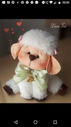Sheep And Lamb, Xmas Decorations, Fabric Crafts, Art Dolls, Projects To Try, Bee, Teddy Bear, Toys, Sheep Crafts
