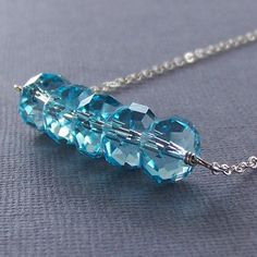 This makes me want to use crystals in my jewellery too. Aren't they beautiful? What a lovely necklace.