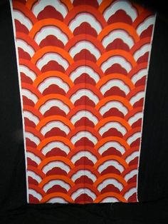 60S 70S Mod Mid-Century Op Art Vintage Fabric Curtain Abstract #097