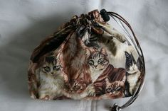Cat draw string bags | Drawstring Bag - Cats