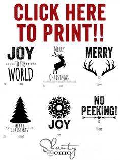 Free Christmas Tag Printables :-)