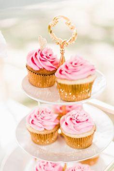 pink gold bridal shower brunch inspiration