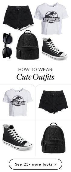 """""""Cute School Outfit"""" by diavianshanelle on Polyvore featuring Converse, T By Alexander Wang, New Look, women's clothing, women, female, woman, misses, juniors and tumblr"""
