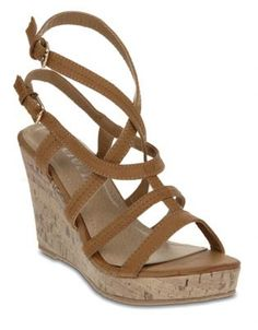 "Just bought these, with my Zando voucher, free & prompt delivery & very comfy too! ""Utopia Double Ankle Strap Wedges Camel"""