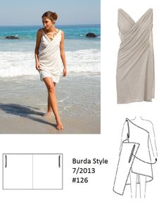 burdastyle drape dress - Google-søk                                                                                                                                                                                 More