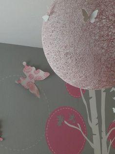 gray, white & pinks. instructions for pendant light http://madebygirl.blogspot.com/2010/08/my-diy-moooi-pendant-light-in-progress.html