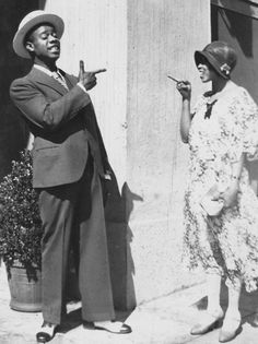 karamazove:  Louis and Lil Hardin Armstrong, Hollywood, c. 1930