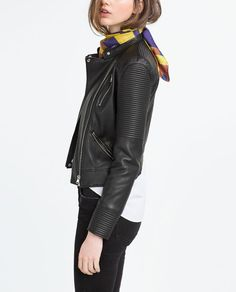 Image 2 of JACKET WITH ZIPS from Zara size small
