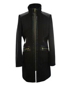 Look at this #zulilyfind! Black Zip-Up Coat #zulilyfinds