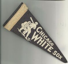 Vintage 1940's Chicago White Sox  Mini Small Pennant 3.75x8.75 - AS IS