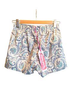 Pretty Pastel Paisley Basic Shorts by ThePinkFlamingoEtsy on Etsy