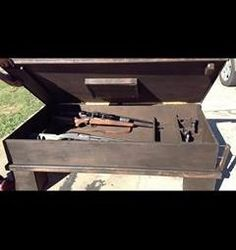 Coffee table gun cabinet Roughly Weathered Pinterest