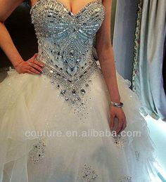 bling wedding dresses | ... bling bling strapless sweetheart neck Cathedral train wedding dress