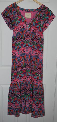 919a9fc25cb Anthropologie Vanessa Virginia Empire Waist Mural Maxi Dress 12 Beaded  Large L  VanessaVirginia  EmpireWaist
