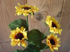 8x Mini-Sonnenblumen 50cm Kunstblumen künstliche Blumen Sonnenblume Seidenblumen