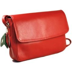 Red Flap Over Cross Body Bag from Prime Hide