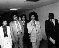 Michael Jackson and Tito Jackson in New York City in the 1970s.