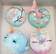 Der neueste Wahnsinn in der Welt der Zuckerwaren ! – D… Amazing donuts ! The latest madness in the world of confectionery ! – DONUTS – the Cute Donuts, Mini Donuts, Doughnuts, Unicorn Foods, Unicorn Donut, Unicorn Macarons, Cute Baking, Donut Decorations, Delicious Donuts