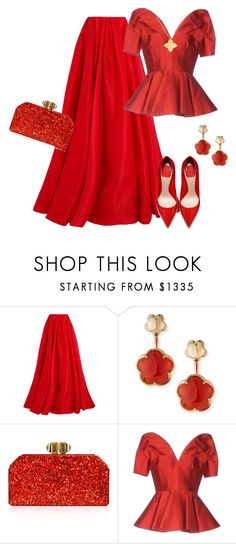 """""""outfit 5856"""" by natalyag ❤ liked on Polyvore featuring Reem Acra, Pasquale Bruni, Judith Leiber, Alexander McQueen and Roberto Coin"""