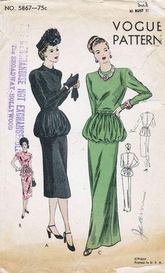 Vogue 5867 - Vintage Sewing Patterns