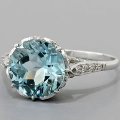 Aquamarine Engagement Rings Vintage Engagement Rings - Polyvore