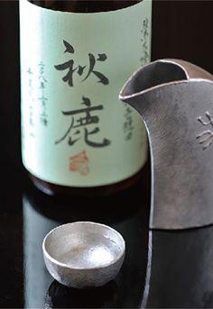 "Japanese Sake ""Akishika"" 秋鹿 純米大吟醸雫酒"