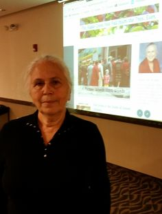 Bena Shklyanoy, a Soviet immigrant, spoke at the Sunday, Oct. 22, 2017, Jewish Genealogical Society of Illinois meeting about her family history, which she has posted at appledoesnotfall.com.