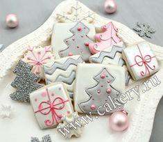 Новогоднее печенье с современным декором – пошаговый мастер класс с фото