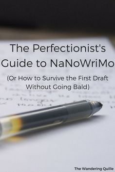 It's hard being a perfectionist writer. No joke. You all who fit the qualifications know what I mean. The urge to edit everything. The de...