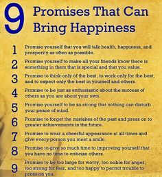 9 Promises That Can Bring Happiness by John Wooden