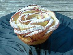 Roses feuilletées aux pommes et à la crème d'amande, Recette Ptitchef