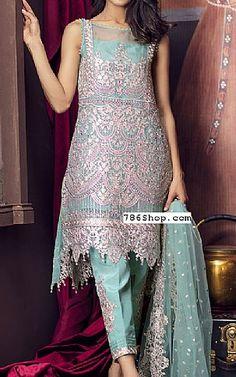Light Sea Green Chiffon Suit   Buy Imrozia Pakistani Dresses and Clothing online in USA, UK