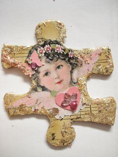 Altered Puzzle Piece for Sheryl