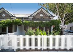 Gorgeous Bluestone Cottage in Adelaide (semi-detached). Looks small on the outside and is compact on the inside though the room sizes are generous. Adelaide Sa, Front Fence, Semi Detached, Other Rooms, Cottage Homes, Exterior Paint, Future House, Pergola, Real Estate
