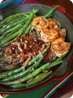 Steak and Chipotle Shrimp~Dinner For Two