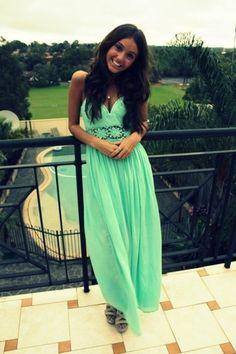 ddc7317f1d mint maxi dress love this color for summer. Alondra Cuevas · F A S H I O N