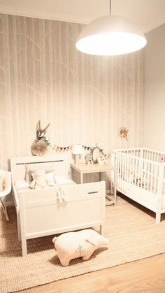 """make room for two! I need to rename this board """"shared unisex nursery!"""""""