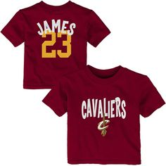 Infant Cleveland Cavaliers LeBron James Name and Number T-Shirt – Wine