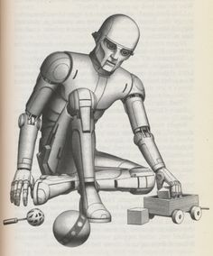 Illustrations by Ralph McQuarrie for Isaac Asimov's Science Fiction short story collection Robot Visions.