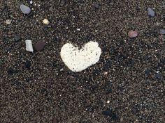 Heart Scotland beach