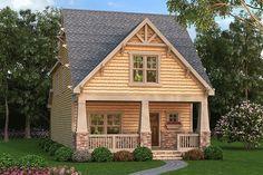 Narrow Lot Craftsman Bungalow - 75524GB | 2nd Floor Master Suite, CAD Available, Craftsman, Jack & Jill Bath, Loft, MBR Sitting Area, Narrow Lot, Northwest, PDF | Architectural Designs