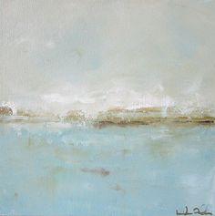 Blue Ocean Painting Seascape Original Art Pretty by lindadonohue abstract Abstract Landscape Painting, Landscape Art, Landscape Paintings, Art Paintings, Landscapes, Encaustic Art, Contemporary Abstract Art, Arte Pop, Oeuvre D'art