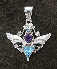 92.5 Silver Gemstone Pendant (CCCLX)