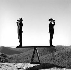 Art for walls from a favorite photographer Rodney Smith: Two men on see-saw no Bear Mountain, New York 2000 Narrative Photography, Surrealism Photography, Conceptual Photography, Fine Art Photography, Photography Gallery, Walker Evans, Magritte, Great Photographers, Portrait Photographers
