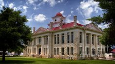 Blanco County Courthouse - Joan Carroll, in Johnson City TX. To view or purchase my prints, canvases, cards or phone cases visit joan-carroll.artistwebsites.com THANKS! #johnsoncity