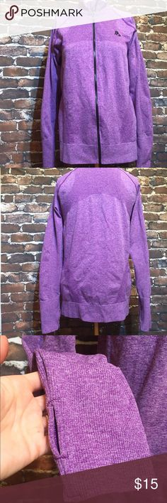 Athketic Zip Up NWOT Purple jacket with thumb holes. Never worn. Nylon and spandex. Jackets & Coats