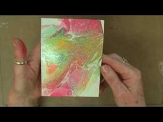 ▶ Technique Tuesday - Distress Stains with plastic wrap background Technique - 13.08.13 - YouTube