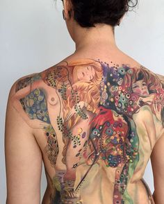 10+ Gustav Klimt Tattoos To Show Your Artistic Side Back Tattoos 548f2bc792e0