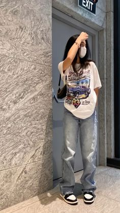 Tomboy Fashion, Teen Fashion Outfits, Streetwear Fashion, Girl Outfits, 80s Fashion, Vintage Outfits, Retro Outfits, Cute Casual Outfits, Mode Ootd